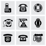 Vector Telephone icon set Stock Photography