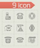 Vector Telephone icon set Royalty Free Stock Image