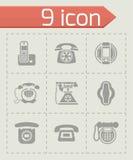 Vector Telephone icon set Royalty Free Stock Image