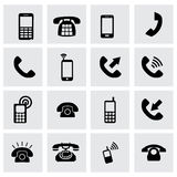 Vector telephone icon set Stock Images