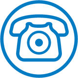 Vector telephone illustration Royalty Free Stock Photography