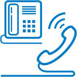 Vector telephone and phone receiver illustration Stock Photos