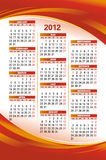 Vector template of 2012 calendar Royalty Free Stock Photography