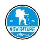 Vector template adventure illustration logo and badge design stock illustration