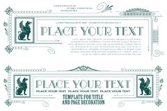 Vector template. Advertisements, flyer, web, wedding  and other invitations or greeting cards. Stock Image