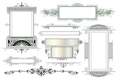 Vector template. Advertisements, flyer, web, wedding  and other invitations or greeting cards Stock Images