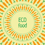 Vector template сarrot green orange circle eco food Stock Images