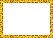 Vector template of Autumn leaves design. A colorful autumn leaves image. A frame made with a vector. For banners and posters vector illustration