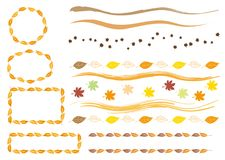 Vector template of Autumn leaves stock illustration