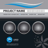 Vector Template Background. Corporate Vector Business Template Background with Logo (others elements of this template are in my portfolio royalty free illustration