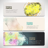 Vector template banners with digital technology and internet Royalty Free Stock Photography
