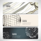 Vector template banners with digital technology and internet Stock Photography