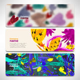 Vector template banners with digital technology and internet Royalty Free Stock Photos