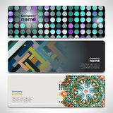 Vector template banners with digital technology and internet Stock Image