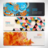 Vector template banners with digital technology and internet Royalty Free Stock Image