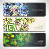 Vector template banners with digital technology and internet Royalty Free Stock Images