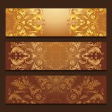 Vector template banners with filigree pattern. Of ethnic elements Royalty Free Stock Photography