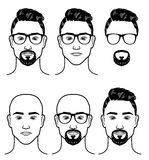 Vector template for barbershop