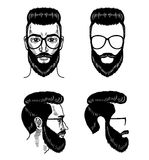 Vector template for barbershop Beard Glasses Face mustache Haircut