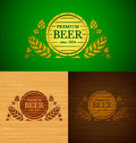 Vector template beer emblem Royalty Free Stock Photography