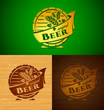Vector template beer emblem Royalty Free Stock Images