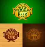 Vector template beer emblem Stock Photography