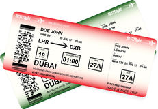 Vector template of boarding pass tickets. Concept of trip or travel vector illustration