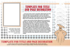 Vector template booklet on the culinary theme with a baker Royalty Free Stock Photography