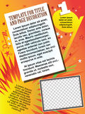Vector template booklet on domestic holiday or music festival Royalty Free Stock Photos