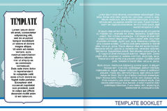 Vector template booklet in a romantic style Royalty Free Stock Images