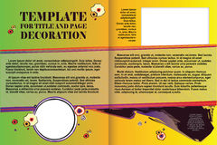 Vector template booklet in a romantic style Stock Photography