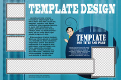 Vector template booklet in a romantic style Royalty Free Stock Photo