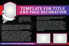 Vector template booklet in a romantic style Royalty Free Stock Image