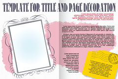 Vector template booklet in a romantic style Stock Photos