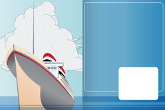 Vector template booklet on the theme of the sea, ships and travel Stock Photography