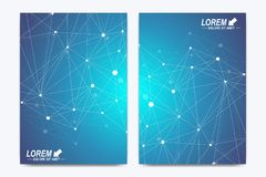 Vector template for brochure, Leaflet, flyer, advert, cover, catalog, magazine or annual report. Geometric background Stock Photography