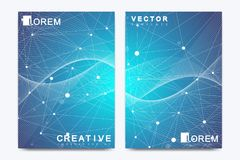 Vector template for brochure, Leaflet, flyer, advert, cover, catalog, magazine or annual report. Geometric background Stock Images