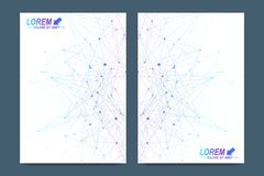 Vector template for brochure, Leaflet, flyer, advert, cover, catalog, magazine or annual report. Geometric background Royalty Free Stock Photography
