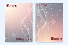 Vector template for brochure, Leaflet, flyer, advert, cover, catalog, magazine or annual report. Geometric background Royalty Free Stock Photos