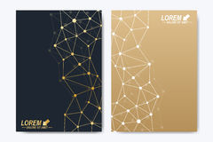 Vector template for brochure, Leaflet, flyer, advert, cover, catalog, poster, magazine or annual report. Golden stock illustration