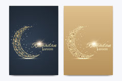 Vector template for brochure, Leaflet, flyer, advert, cover, catalog, poster, magazine or annual report. Ramadan Kareem Stock Images