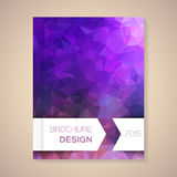 Vector template for brochure Stock Image