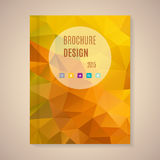 Vector template for brochure Royalty Free Stock Photo