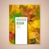 Vector template for brochure Stock Photos