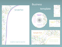 Vector template for business artworks Stock Photos