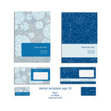 Vector template for business artworks: folder, envelope and busi Stock Image