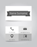 Vector template business card Royalty Free Stock Photography