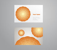 Vector template business card. Geometric background. Card or invitation collection. Islam, Arabic, ottoman motifs Royalty Free Stock Photography