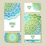 Vector template business card. Geometric background. Card or invitation collection. Islam, Arabic, ottoman motifs. Vector template business card. Geometric vector illustration