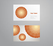 Vector template business card. Geometric background. Card or invitation collection. Islam, Indian, ottoman motifs. Vector template business card. Geometric Stock Photography